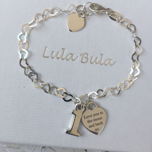 1st birthday silver jewellery  gift  - FREE ENGRAVING